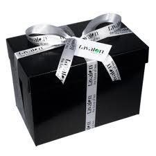 Small Black Box with Decorative Ribbons