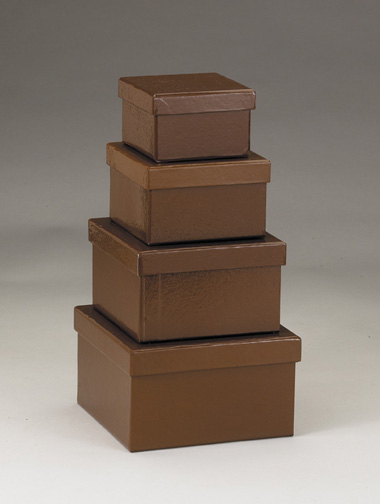 Brown Nesting Paper Boxes