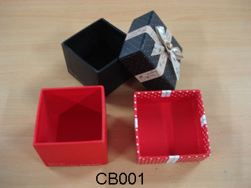 Small Cardboard Boxes with Ribbon
