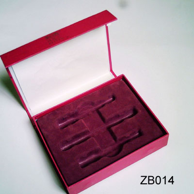 Cardboard Cosmetic Box with Velvet Tray