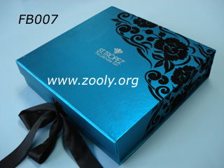 Black Flocking Folding Paper Gift Box