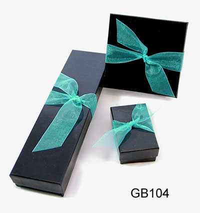 Black Gift Box with Decorative Ribbon