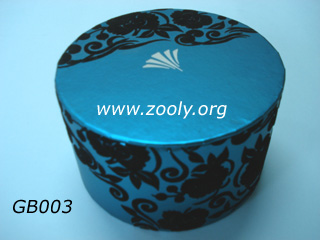 Blue Round Cosmetic Box