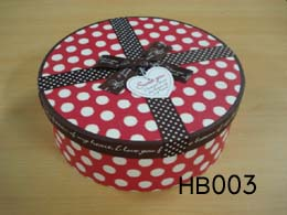 Decorative Round Hat Box