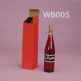 Corrugated Paper wine boxes with red printing
