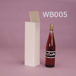 Paper wine bottle box without printing