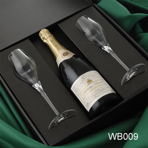 Black Cardboard Wine Box Set